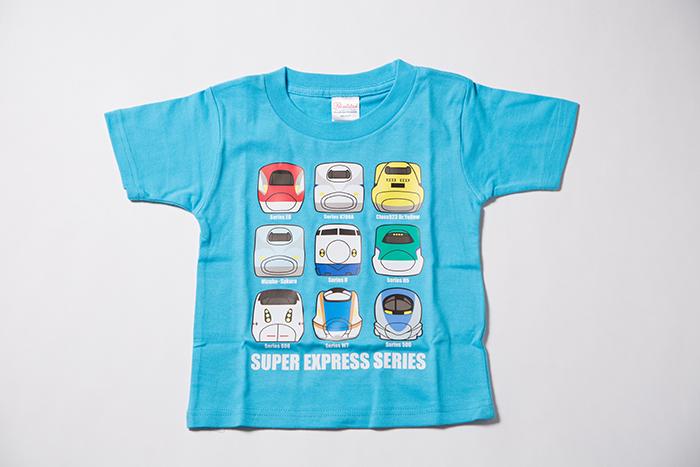 新幹線大集合Tシャツ(ブルー)