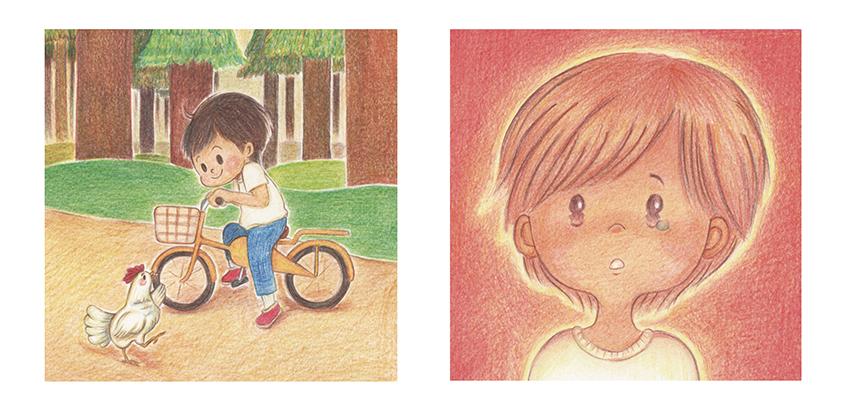 絵本『ミーの黄色い自転車』